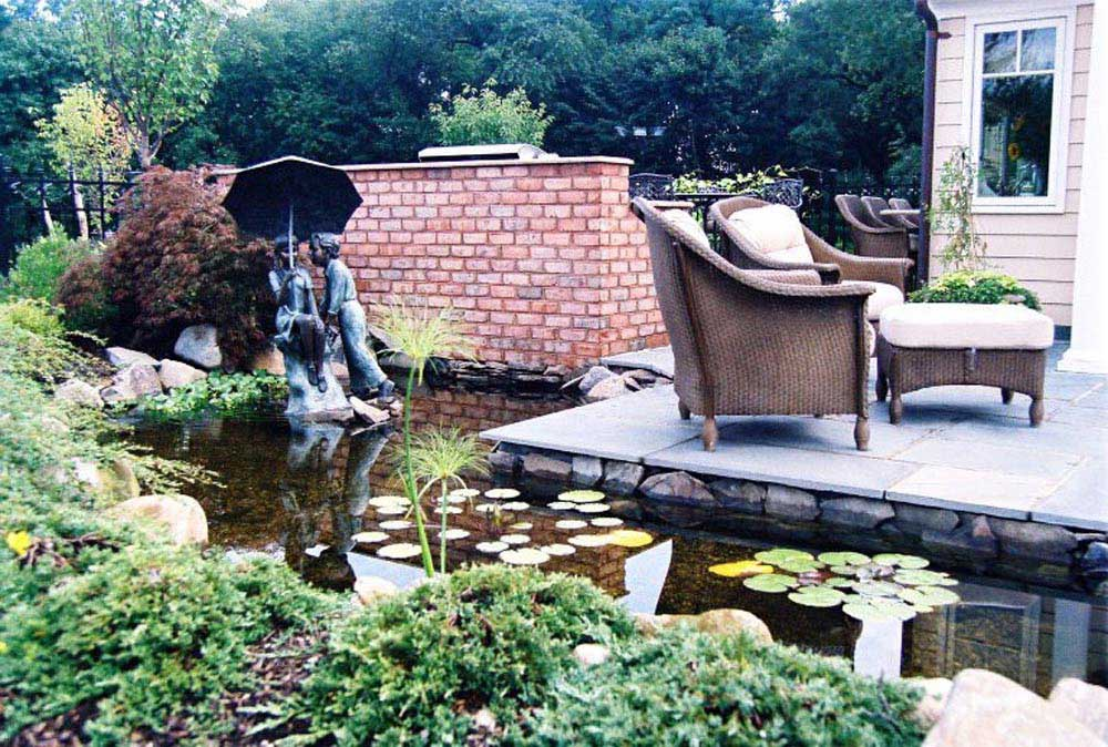 unique pond water feature