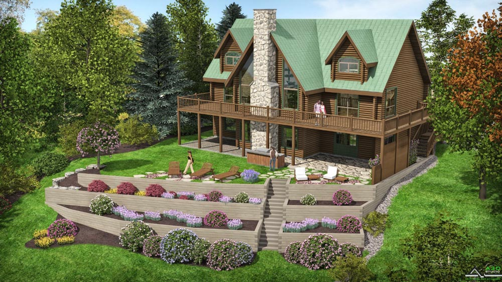 Computer rendering of Schroon Lake Project